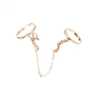 Love You Double Finger Slave Chain Ring