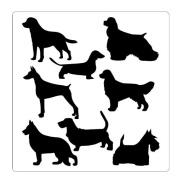 Faux Like a Pro Dog Stencil, 35cm by 36cm