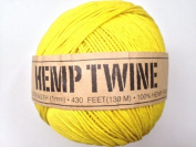 Yellow Hemp Twine Cord 1mm 143yd 130m 430ft DIY