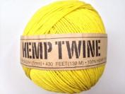 Yellow Hemp Twine Cord 1mm 143yd 130m 430ft DIY