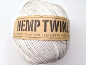 White Hemp Twine Cord 1mm 143yd 130m 430ft DIY