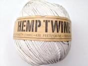 White Hemp Twine Cord 1mm 143yd 130m 430ft DIY