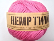 Pink Hemp Twine Cord 1mm 143yd 130m 430ft DIY