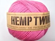 Pink Hemp Twine Cord 1mm 143yd 130m 430ft DIY