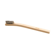 Stainless Steel Brush With Wood Handle