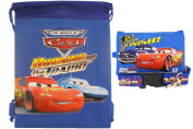 Disney Car Blue Drawstring Bag and Lanyard