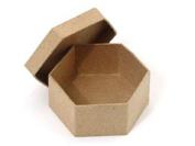 Paper Mache Mini Hexagon Box by Craft Pedlars