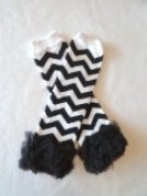 Chevron Baby Leg Warmers with Ruffles
