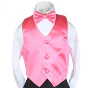 Unotux 3pc 23 Colour Satin Boys Vest Bow Tie Necktie Sets Formal Tuxedo Suits S-7 (XL: