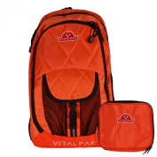 Vitalpak Medical Backpack with Removable Snap-in Essentials Kit, Orange