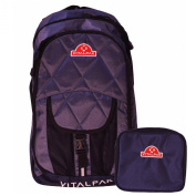 Vitalpak Medical Backpack with Removable Snap-in Essentials Kit, Dark Grey and Navy,