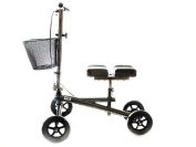 Knee Walker Scooter Steerable W/handle Brake and Basket W/double Leg Pad