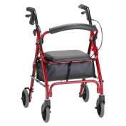 Nova MedicalProducts Health Care Hospital Daily Mobility Aids GetGO Petite Rolling Walker Red