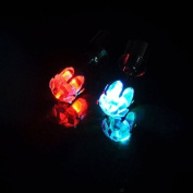 Top Plaza 6x Led Earrings Light Up Glowing Studs Ear Ring Drop Crystal Dance Party Gift, 11 Colours