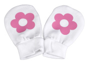 Spoilt Rotten - Flower Design 100% Organic Cotton Scratch Mittens