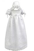 Unottux Infant Baby Toddler Girls Christening Baptism Gown Dresses Bonnet 0- 30M (4: