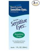 Bausch & Lomb Sensitive Eyes Rewetting Drops, 30ml Bottles