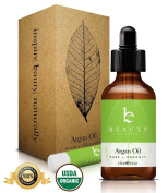ARGAN OIL ★ Large 120ml Bottle ★ Pure, Best Choice Certified Organic, Imported from Morocco comes with FREE 100% Natural Beeswax Lip Balm ★ Our Moroccan Oil is Cold Pressed and Extra Virgin ★ Great for Treatment of Hair, Face, Skin, Nails, Anti ..