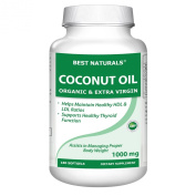 Best Naturals Extra Virgin and Organic Coconut Oil Softgel, 180 Count