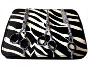 ZZZRT ZT-7777 Japanese J2 Stainless Steel Pro Razor edge Barber Hair cutting scissors shears Barber Thinning Scissors Shears And Hair Thinning Razor 14cm ,14cm & 14cm +Ergonomic Bent Down Thumb Ring + Free scissors Lubricant & scissors insert rings