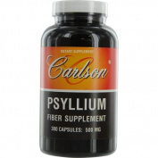 Carlson Labs Psyllium Food Supplement, 500mg, 300 Capsules