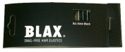 Blax 4 mm Ponytail Holders - Black
