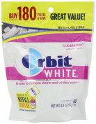 Orbit Chewing Gum White Bubblemint, 180-count
