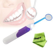 Ckeyin Tooth Stain Remover Dental Care Tools Kit Mirror With LED Light