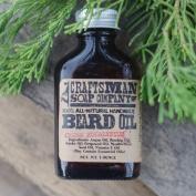 Beard Oil, Cedar & Eucalyptus Scent in 30ml Glass Flask