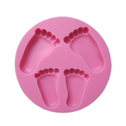 Yunko Pretty Baby Feet Fondant Mould Wedding Cake Mould Decoration Baking Tool