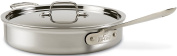 All-Clad 7403 Master Chef 2 Stainless Steel Tri-Ply Bonded 2.8l Saute Pan with Lid Cookware, Silver