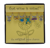 Wine Things WT-1403P Buds and Bugs Wine Charms, Painted