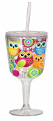 Spoontiques Owls Goblet, Multi Coloured