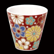 KUTANI YAKI(ware) Sake Cup Plum and Chrysanthemum Made in Japan