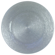 Chargeit by Jay Circus Silver Glitter Glass Charger