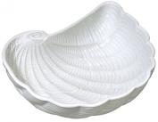 Shaped Nautilus Shell Bowl White Embossed Ceramic 18cm Andrea by Sadek