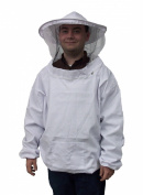 New Medium / Large Beekeeping / Bee Keeping Suit, Jacket, Pull Over, Smock with a Veil