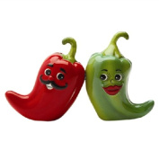 Hot Chilli Peppers Magnetic Salt & Pepper Shakers S/P