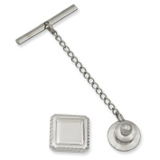 Kelly Waters Rhodium-plated Square Tie Tack