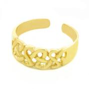 14k Gold Trinity Knot Toe Ring