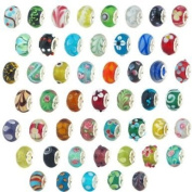 Ten Assorted Coloured Murano Glass Bead Charms