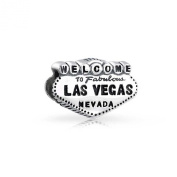 Bling Jewellery 925 Sterling Silver Welcome to Las Vegas Bead Travel Charm Fits Pandora
