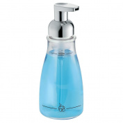 InterDesign - Foaming Soap Dispenser for Bathroom or Kitchen - Clear/Chrome - 7.6cm x 19cm , 410ml