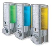 Better Living Products 76335 AVIVA Three Chamber Dispenser, Satin