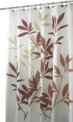 InterDesign Leaves Fabric Shower Curtain 72 x 72, Brown