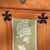 Spectrum 96310 Flower Over The Drawer/Cabinet Towel Bar, Black