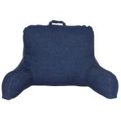 Brentwood 666 Washed Denim Backrest Pillow, Blue