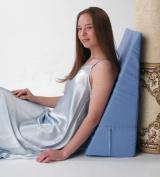 Alex Orthopaedic - 2270-4.5kg - Back Wedge Bed Reading Pillow - Light Blue - 25cm .