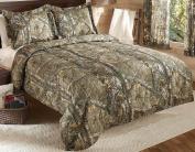 Real Tree Xtra Mini Comforter Set, Queen, Tan, Camo