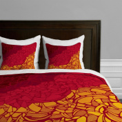 DENY Designs Karen Harris Fossil Blazing Hot Duvet Cover, Twin